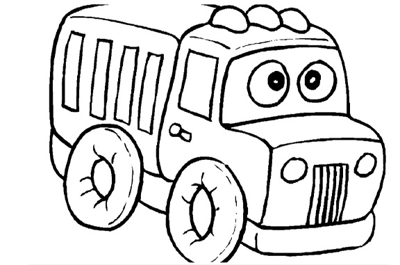 truck drawing - Colour In Pictures