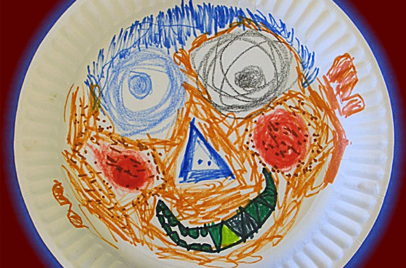 Paper Plate Face