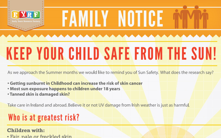 Keep your Child SAFE from the SUN!